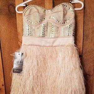 BNWT BEBE studded strapless mini-dress
